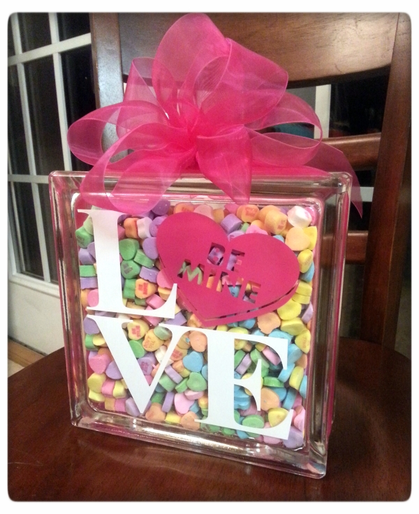 DIY Sweetheart Glass Block