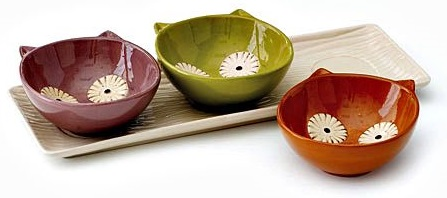 Hootie and Happiness Bowl & Tray Set - 4 piece Set