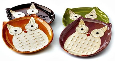 Hootie and Happiness Snack Plates - Set of 4.