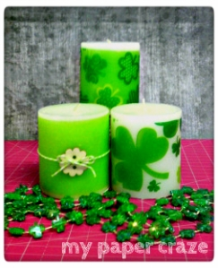 Customize Your Dollar Store Candles St. Patrick's Day byMy Paper Craze