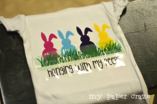 Hanging With My Peeps Heat Transfer Vinyl HTV T-Shirt by My Paper Craze