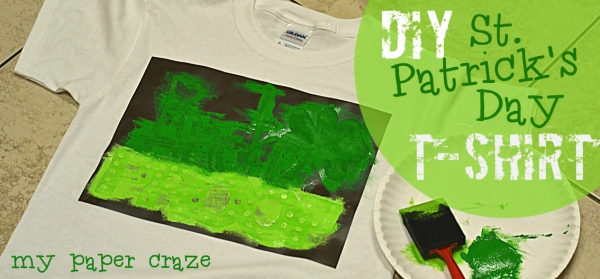 Pinch Proof! St. Patrick's Day T-Shirts with Fabric Paint by My Paper Craze