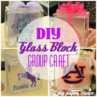 DIY Glass Block Monthly Craft Night... A New Tradition!