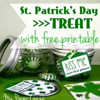 St. Patrick's Day Mason Jar Treat with Free Printable