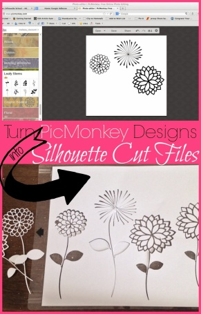 picmonkey to silhouette files