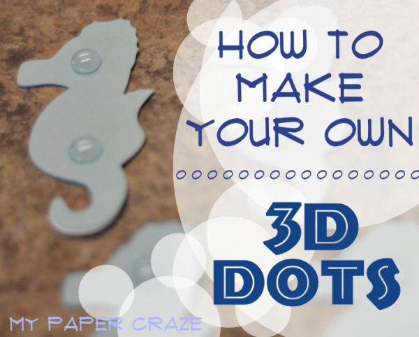 How To Make Your Own 3D Dots