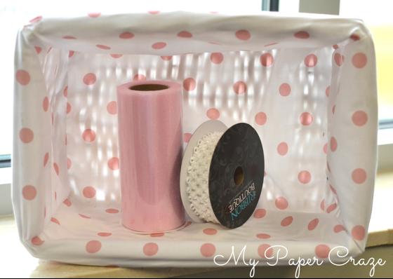 DIY Tutu Easter Basket by My Paper Craze