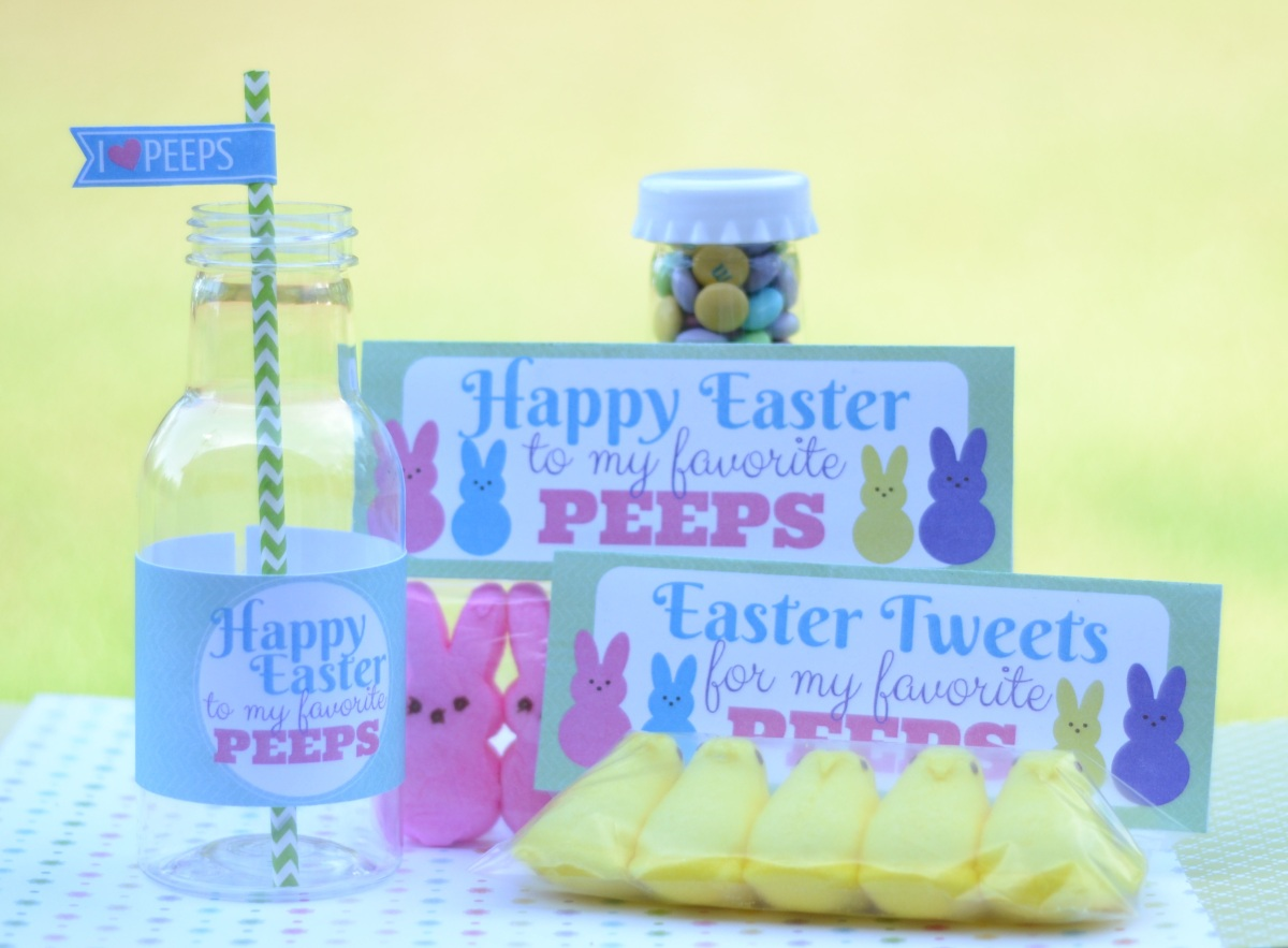 Easter Peeps Treats with {FREE} Printables and Cut File